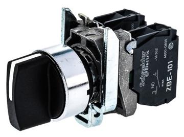 Εικόνα της Harmony XB4 επιλογικός διακόπτης O22 3 θέσεων 2NO 600V - Μαύρο