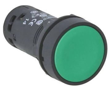 Εικόνα της Harmony XB7 μπουτόν με επαναφορά 1NO IP65 χωρίς σήμανση - Πράσινο