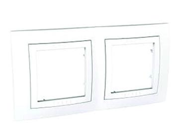 Εικόνα της Unica plus πλαίσιο 2 θέσεων οριζόντιο Λευκό/Λευκό