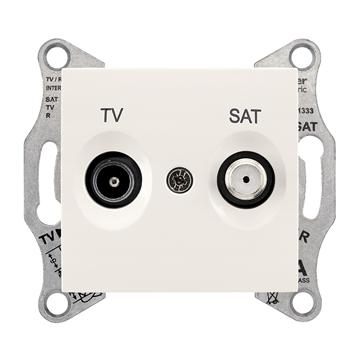 Εικόνα της SEDNA Πρίζα TV-SAT τερματική 1dB Λευκό