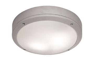 Εικόνα της Φωτιστικό Πλαφονιέρα E27 2X18W CFL/LED IP 44 Round Leros Viokef