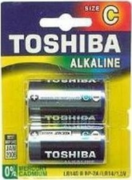 Εικόνα της ΜΠΑΤΑΡΙΑ ΑΛΚΑΛΙΚΗ C BLUE LINE ΜΕΣΑΙΑ BP2 TOSHIBA