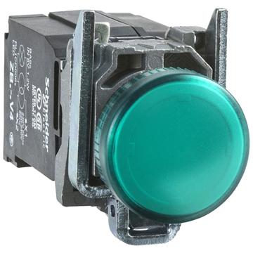 Εικόνα της Harmony XB4 πλήρης ενδεικτική λυχνία O22 24V με ενσωματωμένο LED - Πράσινο