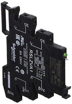 Εικόνα της Zelio RSL ρελέ τύπου Slim 24V με προστασία και LED (βάση + ρελέ)