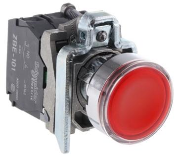 Εικόνα της Harmony XB4 πλήρες φωτιζόμενο μπουτόν O22 220…240V 1NO+1NC με επαναφ. - Κόκκινο