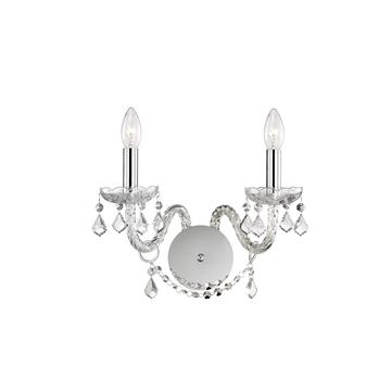 Εικόνα της Wall Lamp  K9 Crystal  Chrome Aluminium E14 2x40W
