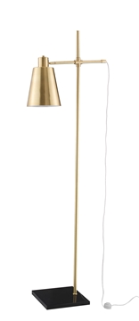 Εικόνα της Satin Gold Metal Black Marble Base E27 1x60 Watt 230 Volt IP20 Bulb Excluded L 28 W 50 H 165 cm