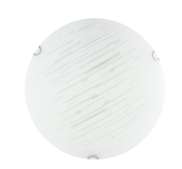 Εικόνα της Ceiling Light White Burnished Glass Chrome Metal E27 2x40W  D H