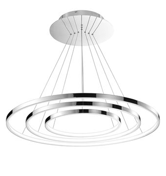 Εικόνα της Chrome Aluminium  Acrylic Adjustable LED 111 Watt 230 Volt 5500Lm 3000K IP20 D 80 H 140 cm