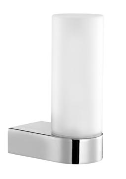 Εικόνα της Frosted Glass Chrome Aluminium G9 1x40W Bulb Included IP44 L 5.5