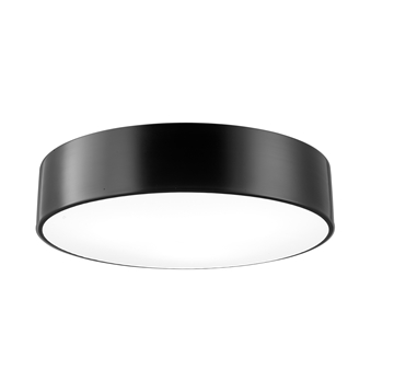 Εικόνα της Ceiling Light Out.Matt Black Steel-In.Matt White Steel E27 3x40W