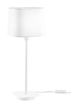 Εικόνα της White Metal White Fabric Shade E27 1x40 Watt 230 Volt IP20 Bulb