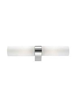 Εικόνα της White Opal Glass Chrome Aluminium E14 2x40W Bulb Excluded IP44 L