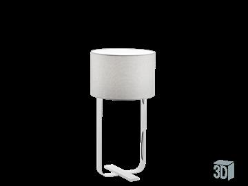 Εικόνα της Φωτιστικό Επιτραπέζιο Γκρι Λευκό E27 60W Jimmi Viokef