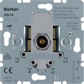 Εικόνα της Berker Ρυθμιστής Φωτισμού 500W 230V/12V Ηλεκ. Μ/Σ Hager