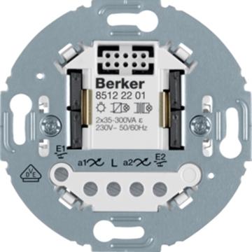 Εικόνα της Berker Μηχανισμός Ελέγχου Φωτισμού 2εξ. 300W/54W Led 1930/R.Clas