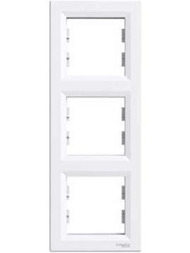 Εικόνα της Asfora πλαίσιο 3 θέσεων κάθετο Λευκό