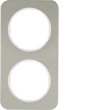 Εικόνα της Berker Πλαίσιο 2Θ. Inox Λευκό R.1 Hager