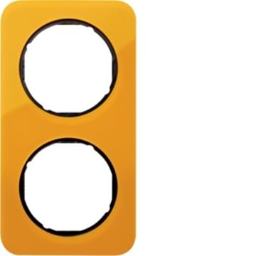 Εικόνα της Berker Πλαίσιο 2Θ. Ακρυλικό Πορτοκαλί Μαύρο R.1 Hager