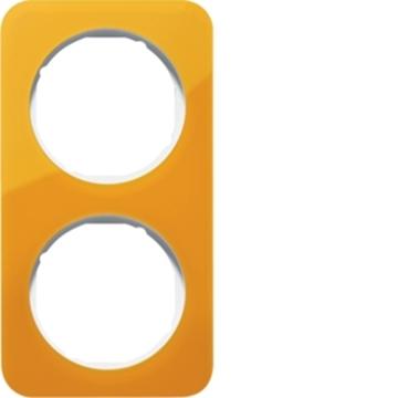 Εικόνα της Berker Πλαίσιο 2Θ. Ακρυλικό Πορτοκαλί Λευκό R.1 Hager