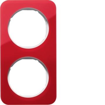 Εικόνα της Berker Πλαίσιο 2Θ. Ακρυλικό Κόκκινο ΛευκόR.1 Hager