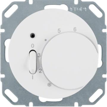 Εικόνα της Berker Θερμοστάτης Αναλογικός Λευκός R.1/R.3 Hager