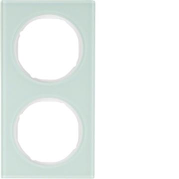 Εικόνα της Berker Πλαίσιο 2Θ. Γυαλί Λευκό R.3 Hager