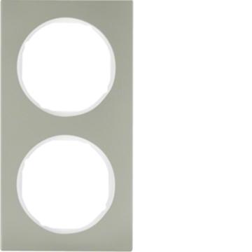 Εικόνα της Berker Πλαίσιο 2Θ. Inox Λευκό R.3 Hager