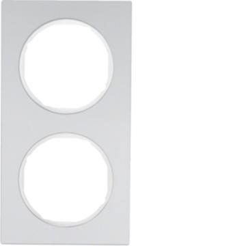 Εικόνα της Berker Πλαίσιο 2Θ. Αλουμίνιο Λευκό R.3 Hager