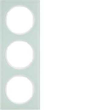 Εικόνα της Berker Πλαίσιο 3Θ. Γυαλί Λευκό R.3 Hager