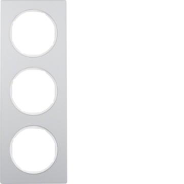 Εικόνα της Berker Πλαίσιο 3Θ. Αλουμίνιο Λευκό R.3 Hager
