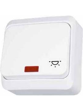 Εικόνα της Prima διακόπτης απλός με λυχνία προσανατολισμού/σύμβολο λαμπτήρα  Λευκός