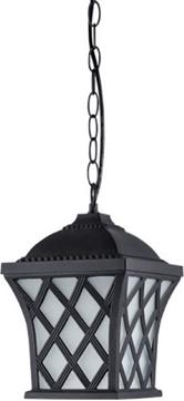 Εικόνα της Κρεμαστό φωτιστικό φαναράκι εξωτερικού χώρου μαύρο Ε27 στεγανό I