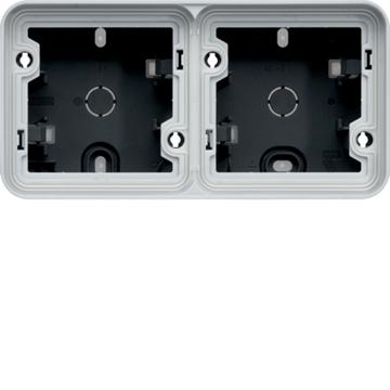 Εικόνα της Cubyko Κουτί Επίτοιχο 2Θ.ΟριζόντιοIP55 Λευκό Hager