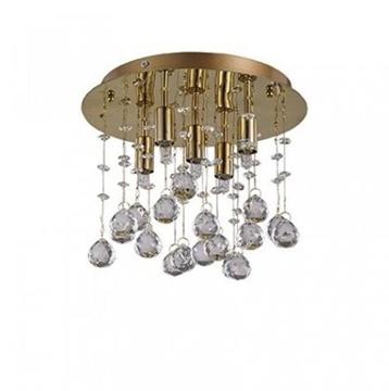 Εικόνα της Φωτιστικό οροφής από μέταλλο+κρύσταλλο Moonlight PL5 ORO