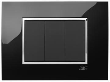 Εικόνα της Mylos Πλαίσιο Μαύρο Glossy Linear 3Στοιχείων