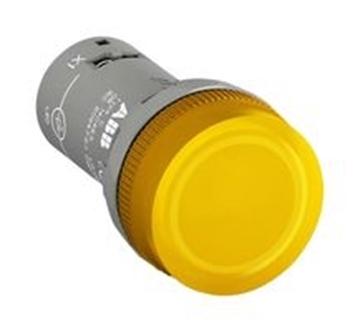 Εικόνα της Ενδεικτική Λυχνία Κίτρινη Ενός Στοιχείου Φ22 Cl2-100Υ
