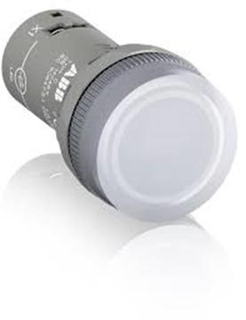 Εικόνα της Ενδεικτική Λυχνία Λευκή Ενός Στοιχείου Φ22 Cl2-100W