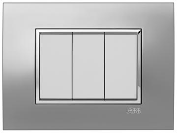 Εικόνα της Mylos Πλαίσιο Μεταλλικό Αλουμίνιο Σατέν Linear 3Στοιχείων