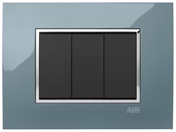 Εικόνα της Mylos Πλαίσιο Ψυχρο Γκρι Glossy Linear 3Στοιχείων