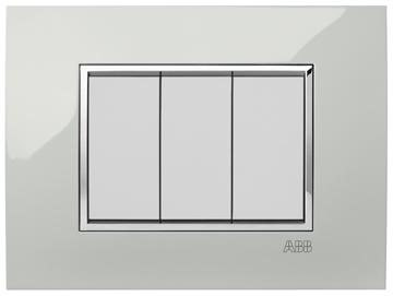 Εικόνα της Mylos Πλαίσιο Λευκό Παγου Glossy Linear 3Στοιχείων