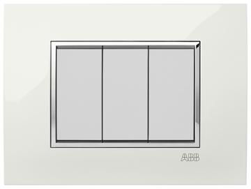 Εικόνα της Mylos Πλαίσιο Λευκό Glossy Linear 3Στοιχείων