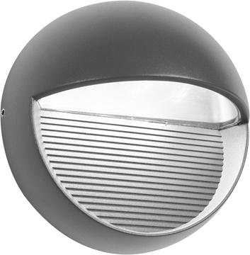 Εικόνα της Dark Gray Aluminium  Glass LED 6 Watt 480 Lm 3000K D 16 W 9.6 cm IP54