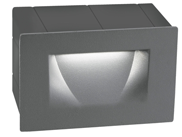 Εικόνα της Dark Gray Alum. LED 3 Watt 270Lm 3000K L W H Cut Out cm IP54