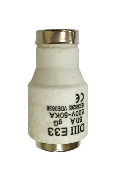 Εικόνα της Φυσίγγι Ασφάλειας Ε33 BT 50Α Diazed gL-gG Ηλέκτρα Technic