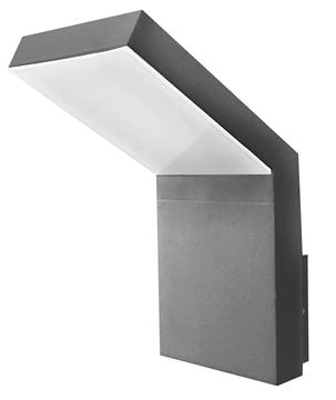 Εικόνα της Dark Gray Alum. Acrylic Diffuser LED 6 Watt 350Lm 3000K L 9 W 14.5 H 18 cm IP54