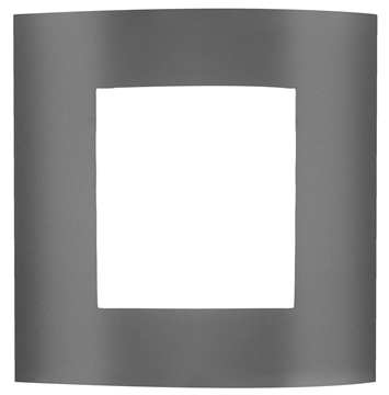Εικόνα της Dark Gray Alum.  White Acrylic E27 1x16 Watt L 23 W 9.5 H 26.4 cm IP44