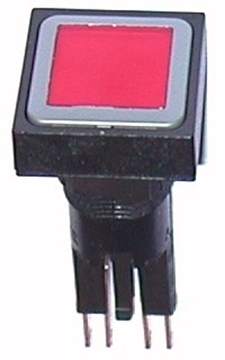 Εικόνα της Ενεργοποιητής με φωτιζόμενο κουμπί, κόκκινο, συντηρημένος, + λαμ