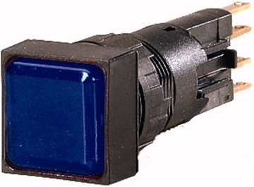 Εικόνα της Ενδεικτική λυχνία, φλος, μπλε, + λάμπα πυρακτώσεως, 24 V