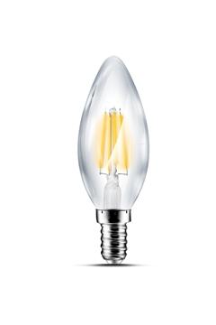 Εικόνα της Λάμπα led  κερί C35 4w Ε14 filament διάφανη 3000Κ Lambario